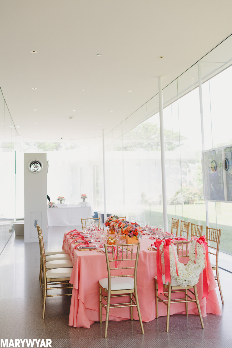 bridal shower at toledo museum glass pavilion by crowning