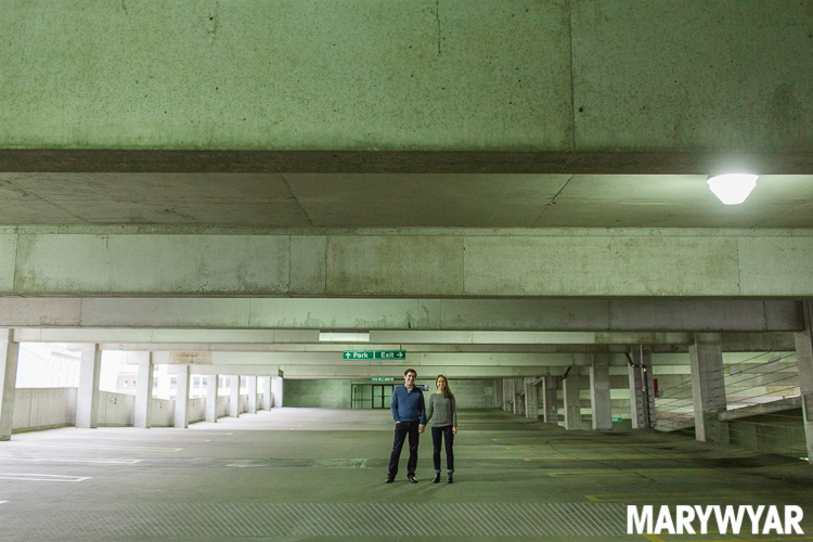Parking Garage Downtown Toledo Engagement Portraits Photos