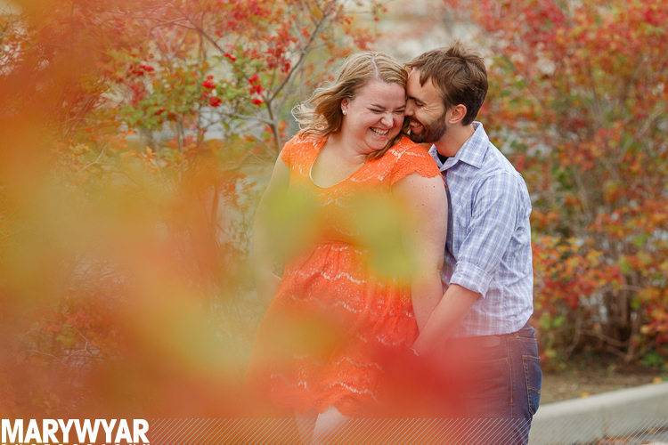 Toledo Library Portraits Glass Pavilion Engagement
