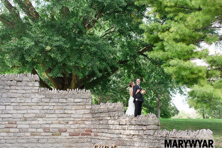 Toledo Outdoor Ceremony at Walbridge Park Reception at The Blarney