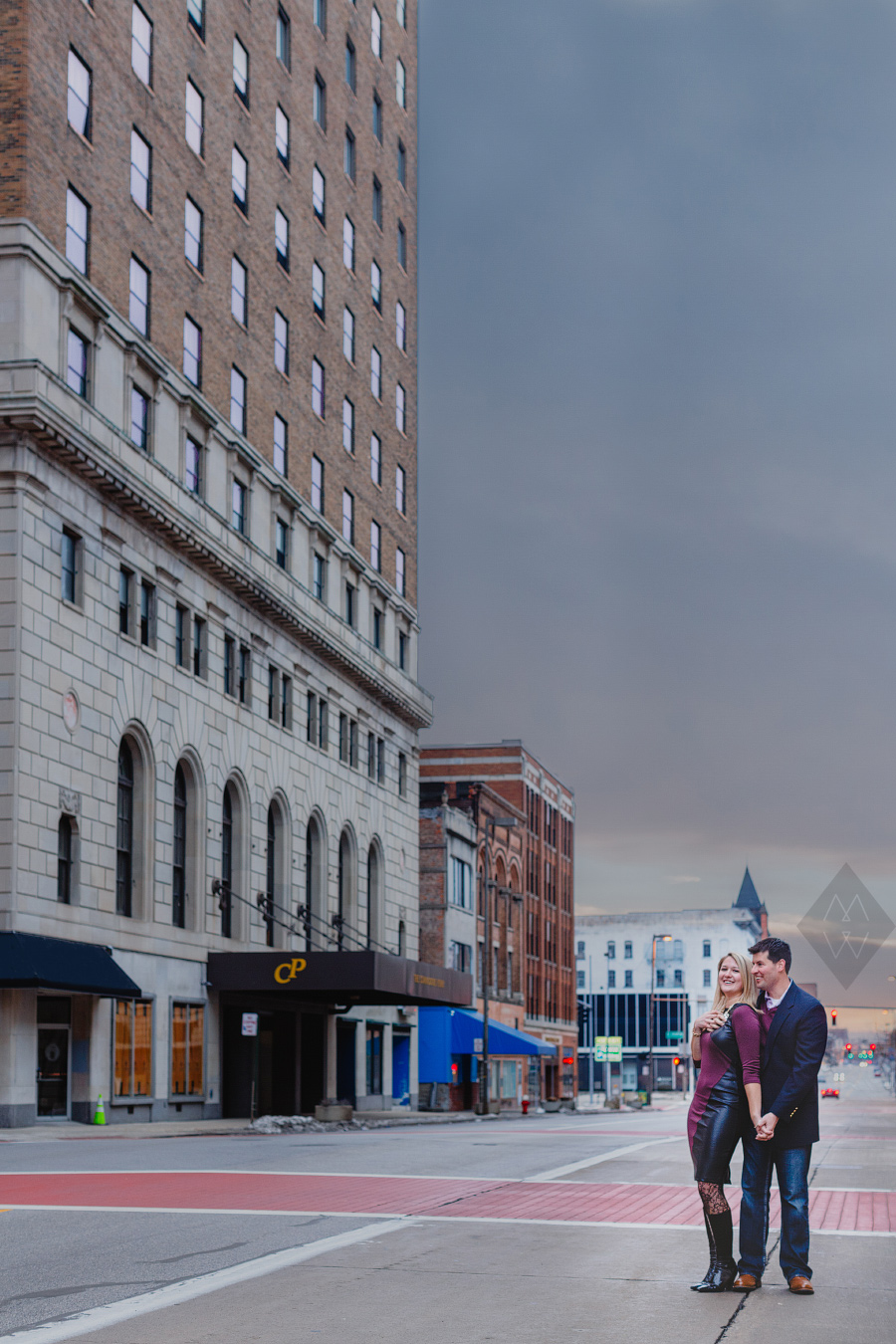 toledo wedding photographer secor building downtown