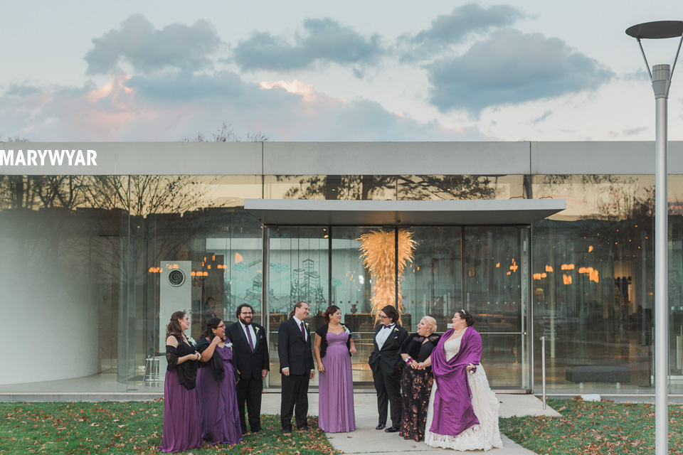 toledo museum of art glass pavilion wedding vow renewal10