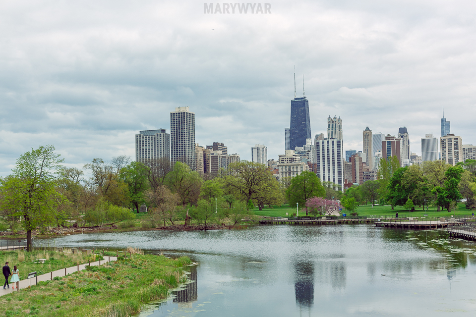 Chicago-Lincoln-Park-Zoo-Pond-Pavilion-Engagement-Photos-01