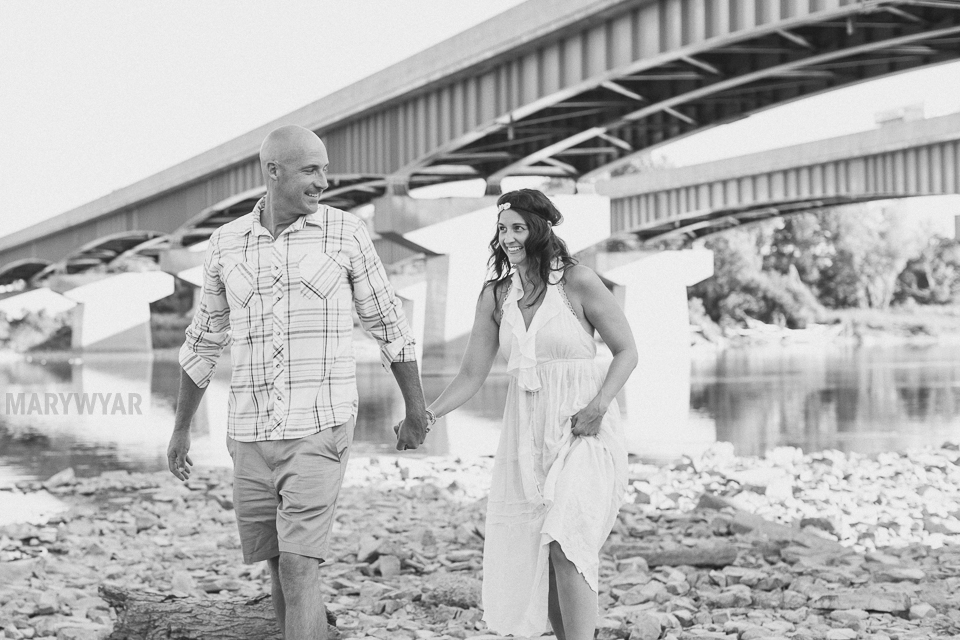 Toledo water engagement photos
