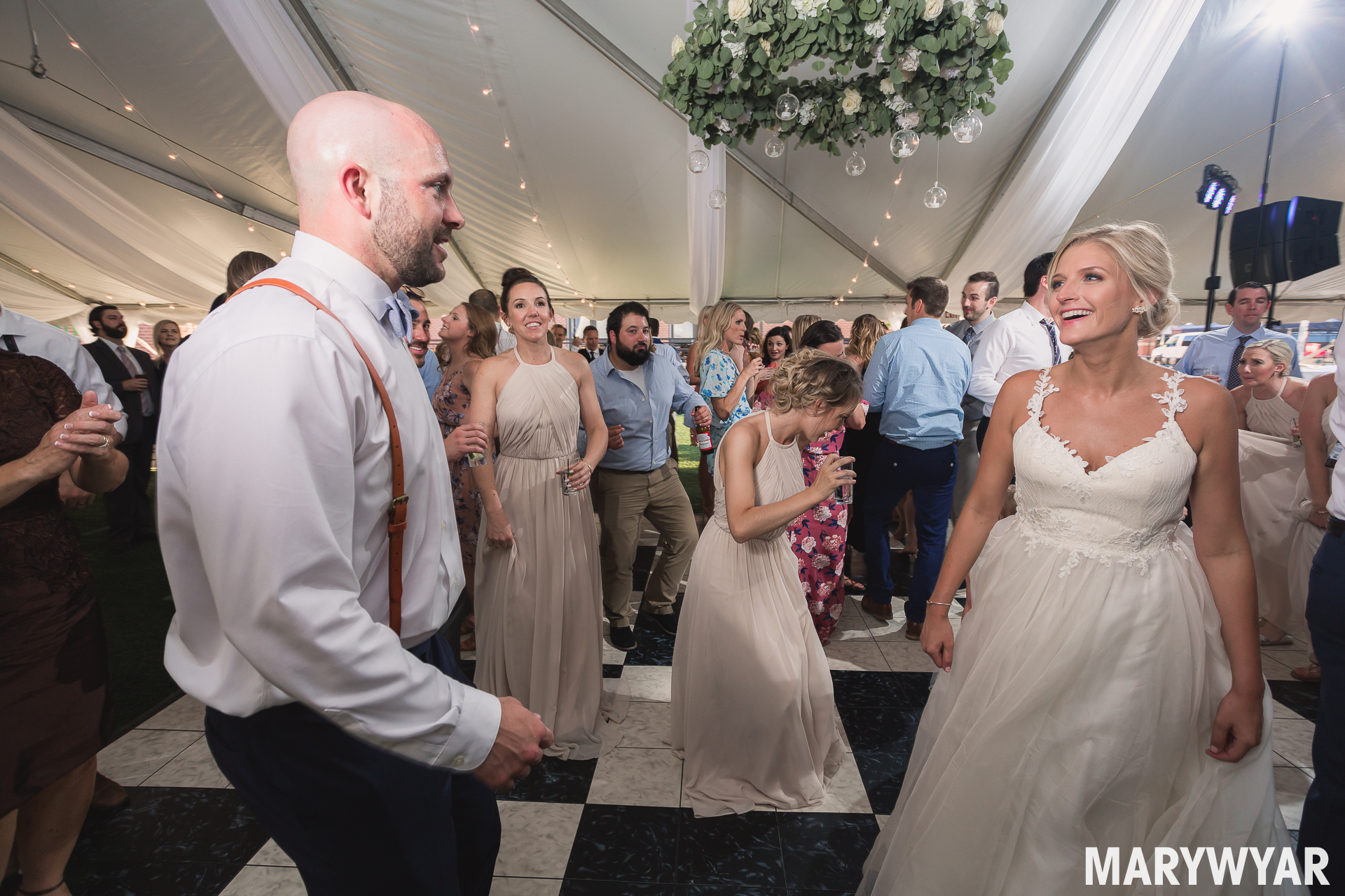 Toledo Hensville Wedding Downtown Tent photo