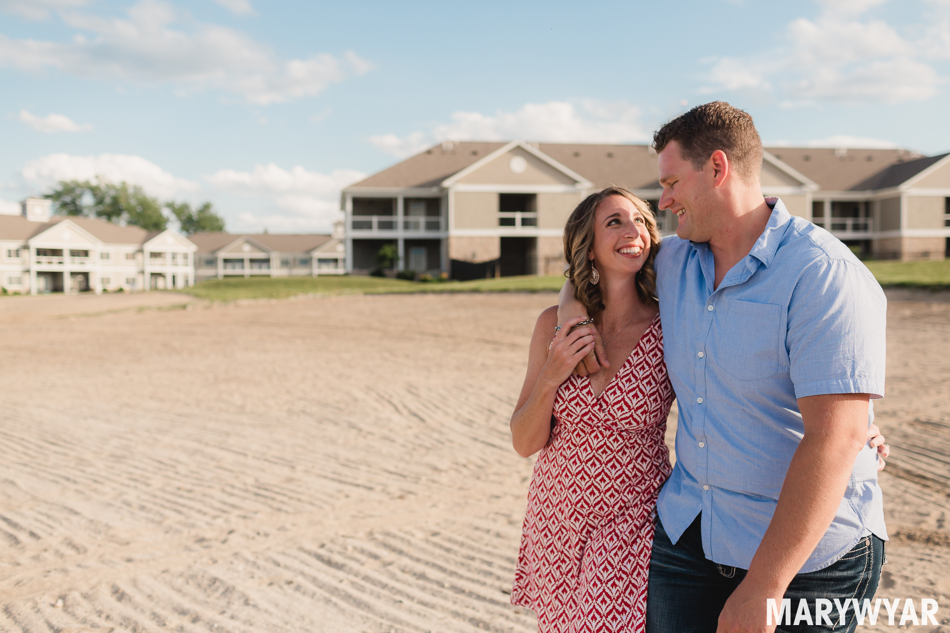 lake erie beach water catawba island engagement photos