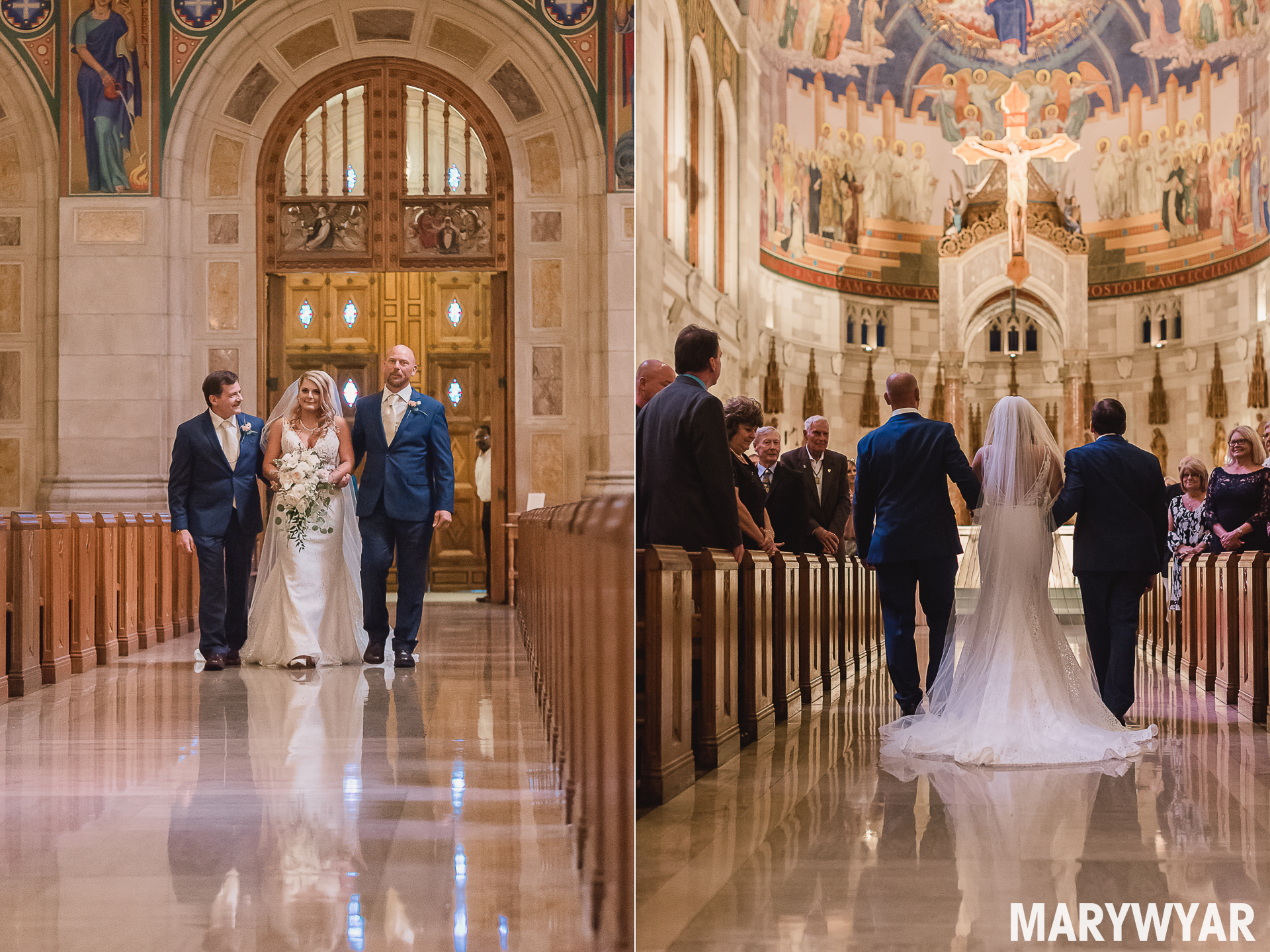 Toledo Rosary Cathedral Wedding Photo