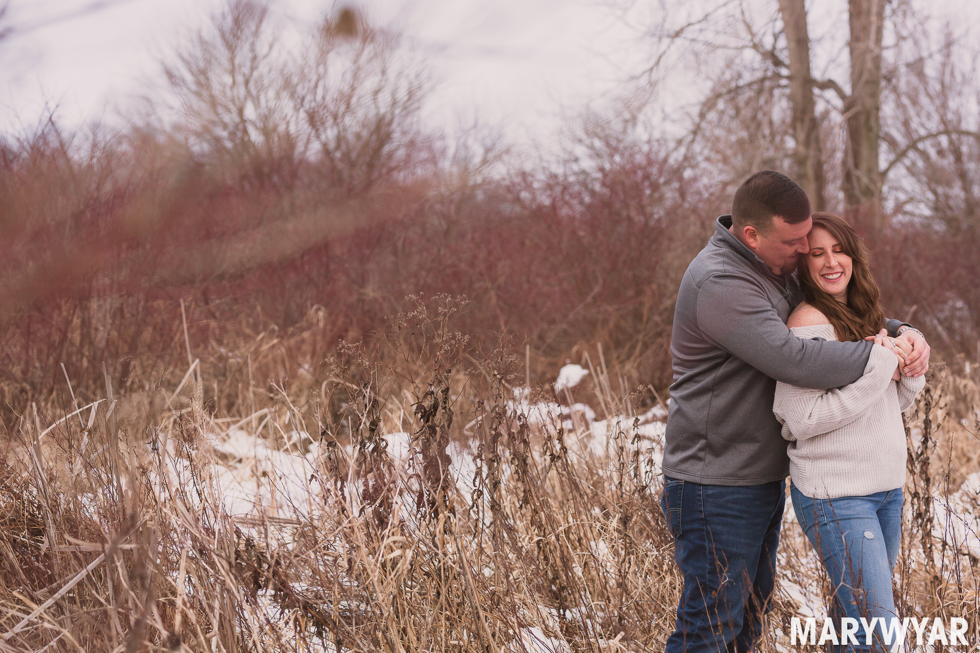 Findlay Ohio Rustic Engagement Photos