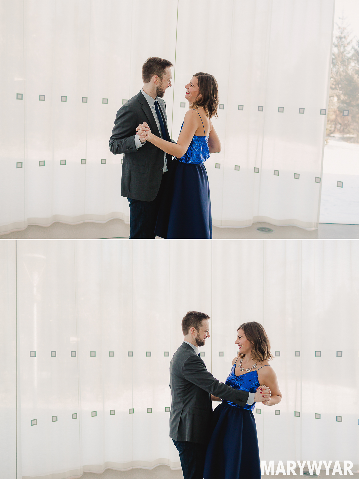 Toledo-Glass Pavilion modern engagement photos