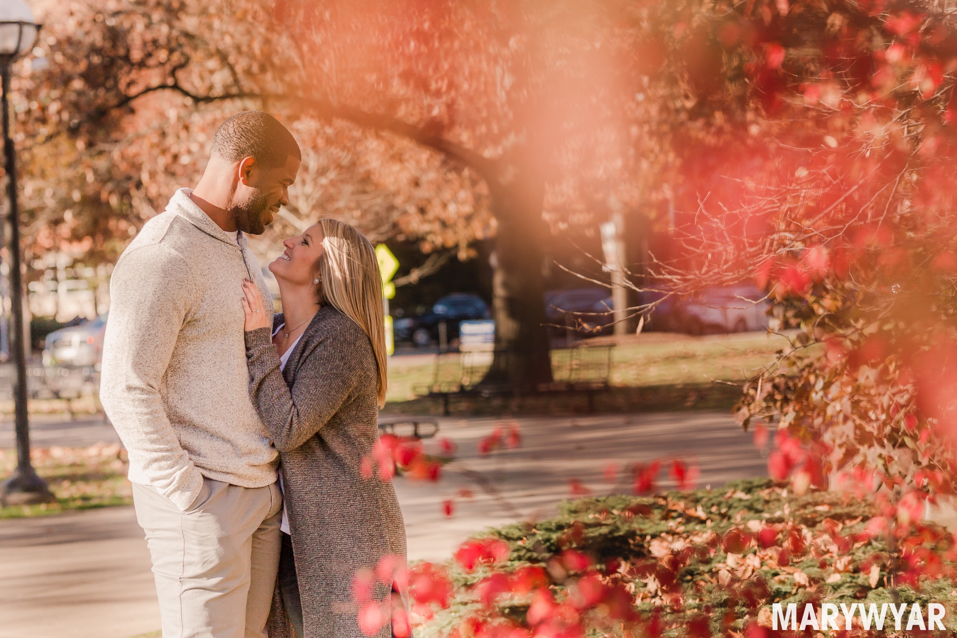 Downtown Ann Arbor Fall engagement session