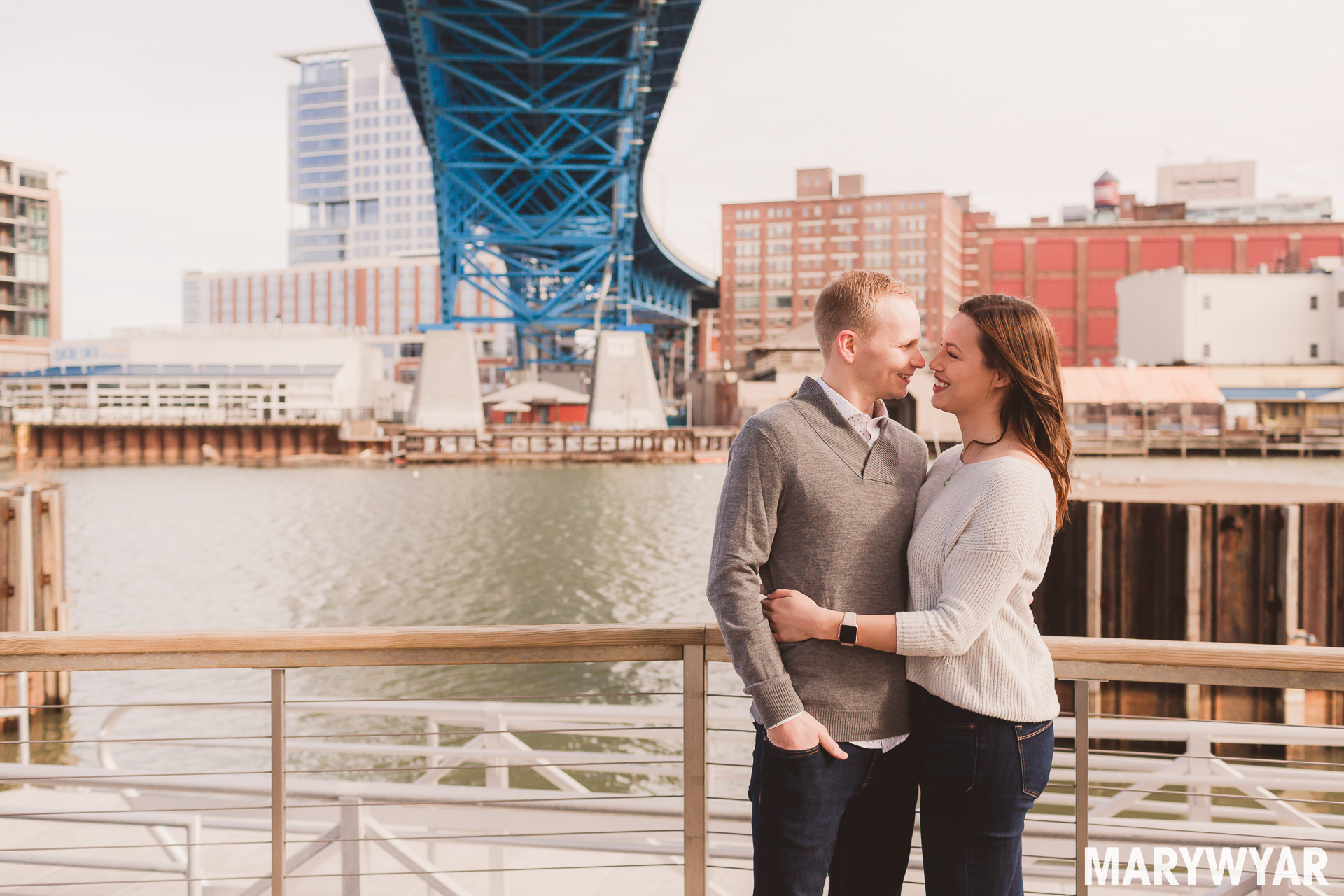 Cleveland Flats engagement photos