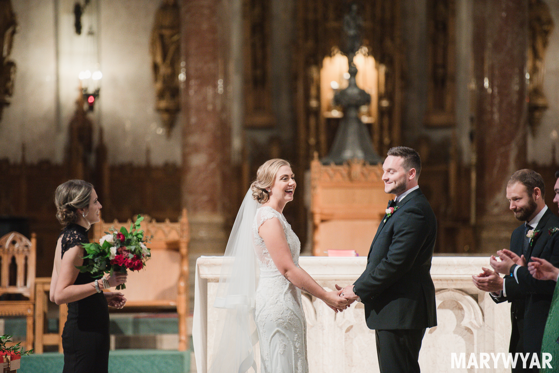 Rosary Cathedral Toledo wedding photos