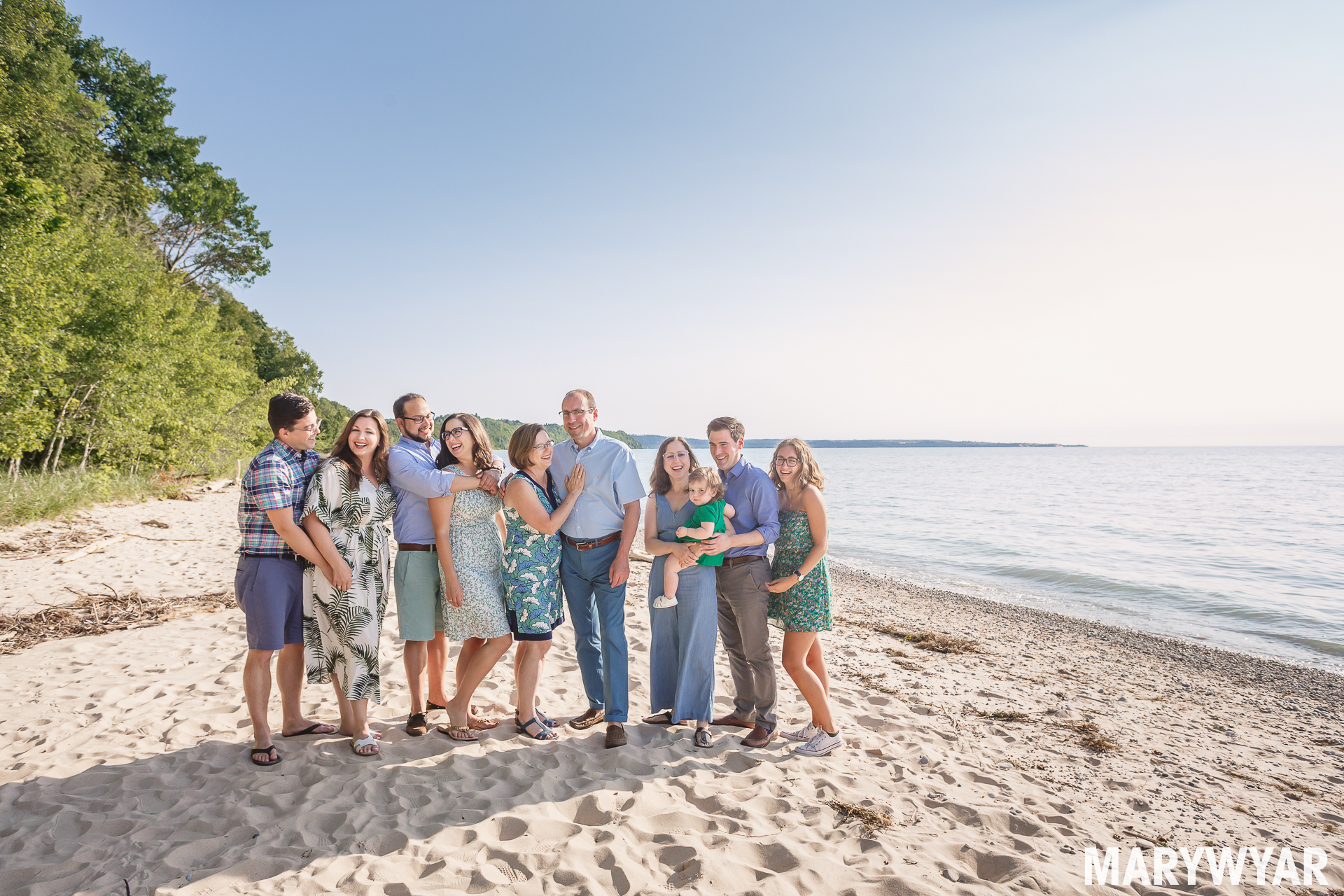 Glen Arbor beach lake michigan family photos