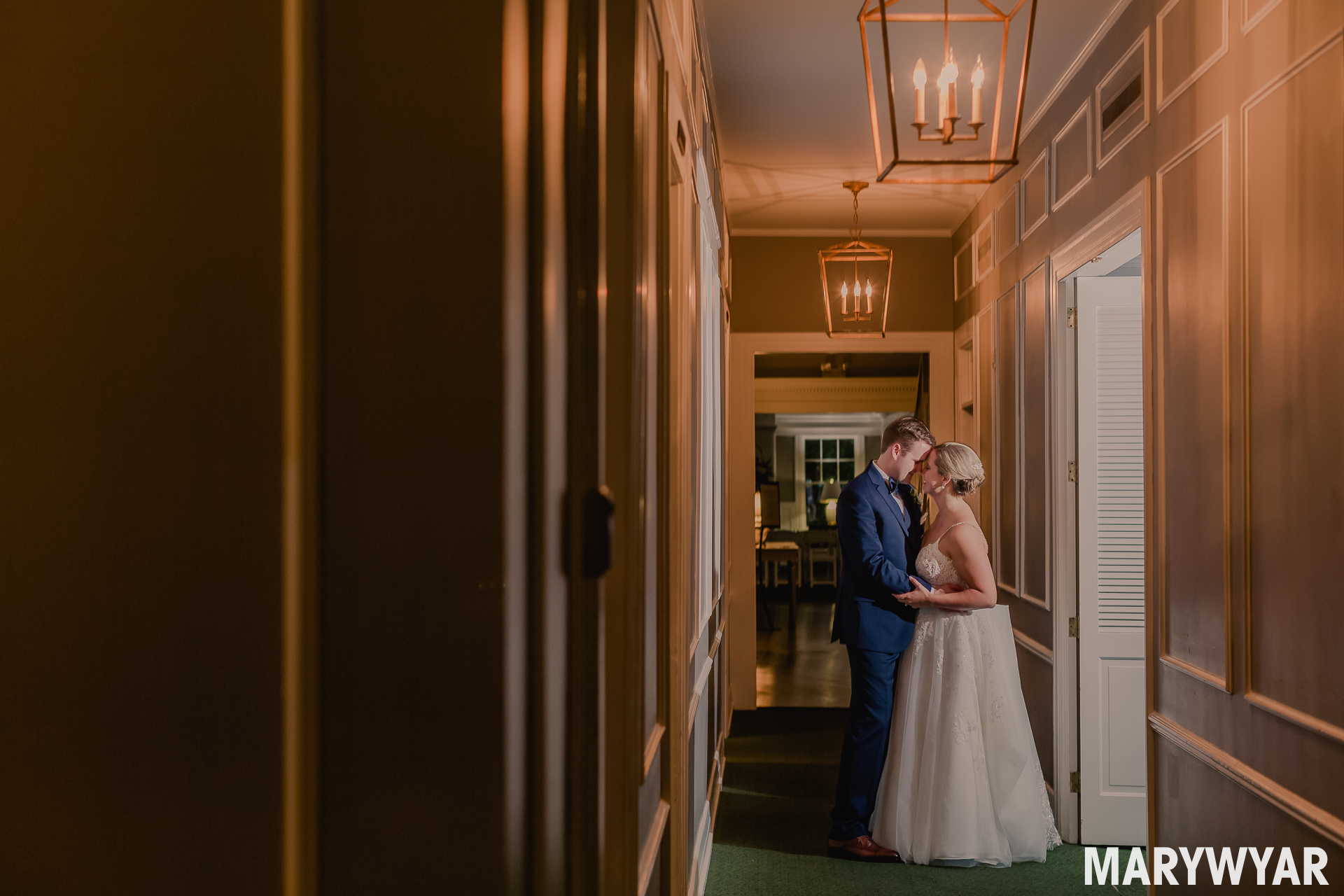 Toledo Country Club Wedding Photos inside ceremony rain