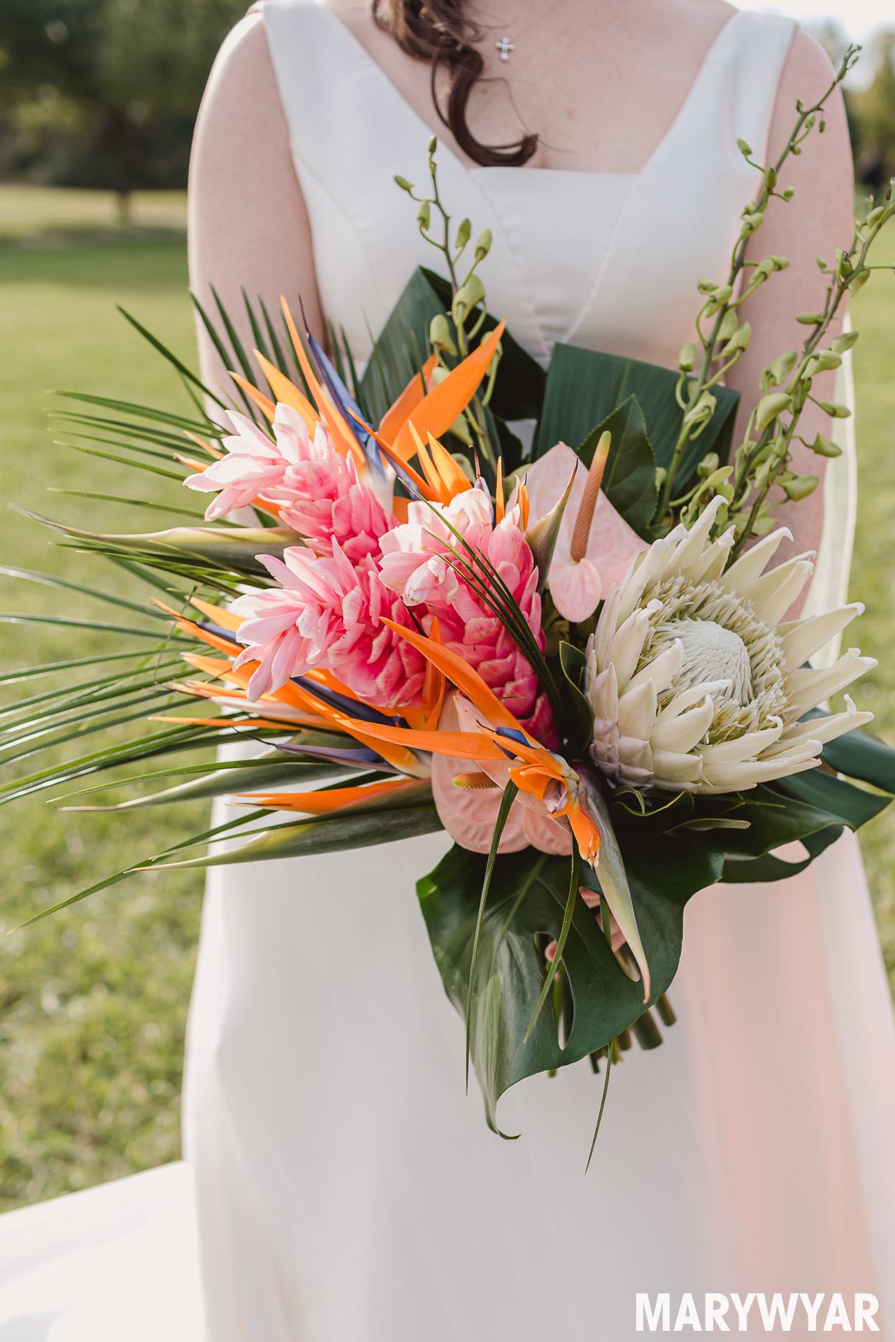 tropical wedding flower bouquet photo