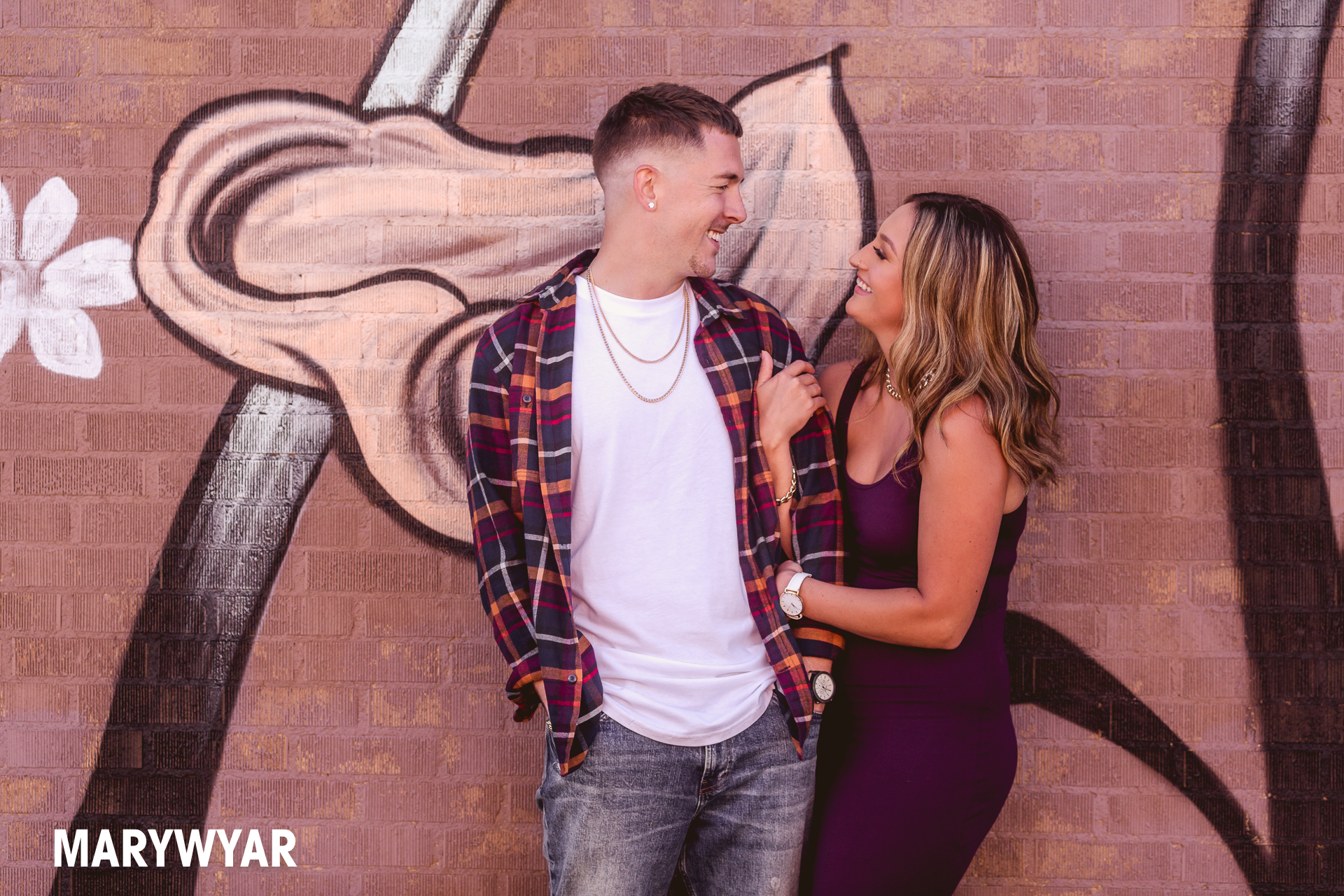 downtown toledo modern artistic engagement photos
